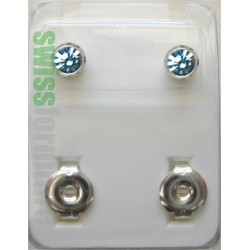 REGULAR STUD WHITE WITH COLOR STONE ref. R213
