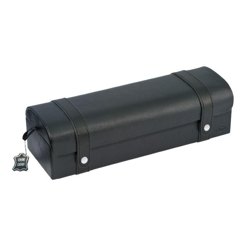 Scatola porta 5 orologi in pelle nera art 324311 swiss - Porta orologi automatici ...