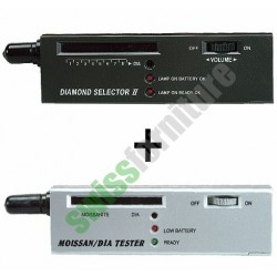 PROVA BRILLANTI Set Diamond Selector II + Moissanite Tester