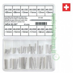 ASSORTMENT OF THIN SPRING BARS MSA 99.097