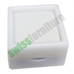 WHITE GEMSTONE BOX 25X25 ref. B31448