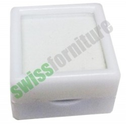 WHITE GEMSTONE BOX 40X40 ref. B31449
