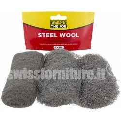 Wire Steel Wool, Pack of 3 Grades