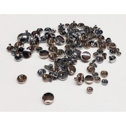 ASSORTMENT OF 100 CHROME CROWNS