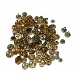 ASSORTMENT OF 100 PLATED CROWNS Ref. 352