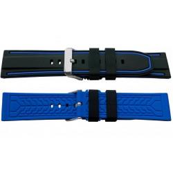 SILICON BAND BLACK-BLUE ref.515