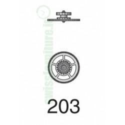 INTERMEDIATE WHEEL eta 2651 - 2671