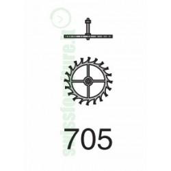 ESCAPEMENT WHEEL ref. 705 eta 2651 (2640)