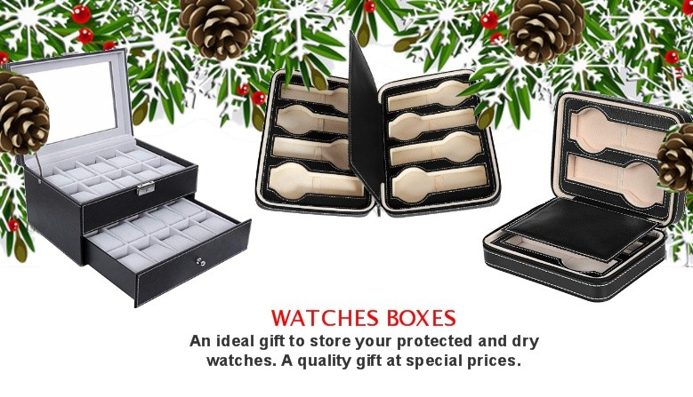 WATCHES BOXES